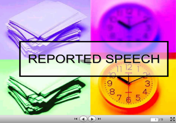 Reported speech | Recurso educativo 37731