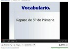 Vocabulario | Recurso educativo 42704