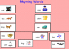 Rhyming words | Recurso educativo 45098