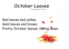 Fall songs and poems | Recurso educativo 45468