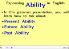 Expressing Ability | Recurso educativo 23989