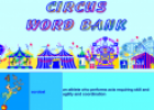 Circus word bank | Recurso educativo 24311