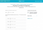 Integrales indefinidas | Recurso educativo 754335