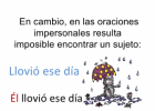 ORACIONES IMPERSONALES. | Recurso educativo 752296